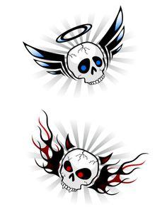 Skull Angel Devil