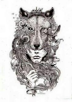 fantasy wolf woman