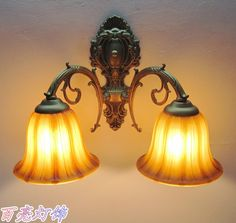 125.00$  Watch now - http://ali1qz.worldwells.pw/go.php?t=1616792645 - FREE SHIPPING 2PCS EMS Fashion double slider wall lamp mirror light bed-lighting rustic antique lamp aisle lights Wall Lights