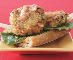Top-Rated Recipes: Open-Face Crab Burgers with Red Pepper Dressing ...