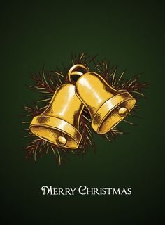 christmas vector illustration with bells Vector Graphics, Vector Art, Christmas Holiday, Xmas, Vectors, Design Art, Celebration, December, Prom