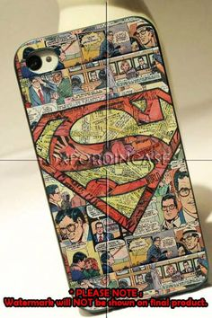 Superman Superhero Comic Book - for iPhone 4/4S case iPhone 5 case Samsung Galaxy S2/S3/S4 case hard case on Etsy, $16.54 CAD