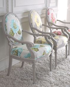 Vintage Chic ♥ Louis XVI Style Chairs in great colors