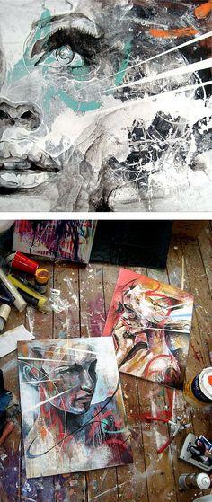 Retrato pinturas de Danny OConnor | Parrilla Inspiration | Inspiration Design