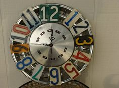 Vintage Dodge Hubcap and License Plate Clock Man Cave by dables, $75.00