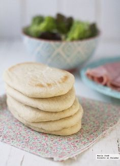 Pan de pita Homemade Pita Bread, Pan Bread, Galette, Fajitas, My Recipes, Granola, A Food, Nom Nom, Snacks