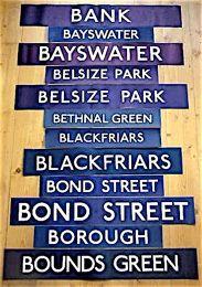 VINTAGE LONDON UNDERGROUND SIGNS