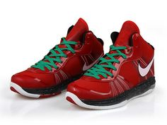 super popular 7520b db42f Nike Lebron 8 V2 Christmas Edition,Style code 429676-600,The Nike