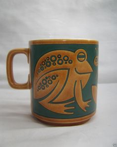 Clappison Hornsea Coffee Mug - Frog Hornsea Pottery, Pottery Mugs, Ceramic Tableware, Glass Ceramic, 70's Style, Retro Style, Good Morning Joe, Froggy Stuff, Critters 3
