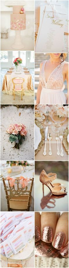 Romantic Rose Gold Wedding Inspiration   4 Metallics to Seriously Consider for Your Wedding Color Scheme  https://www.toovia.com/lists/4-metallics-to-seriously-consider-for-your-wedding-color-scheme