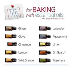 Cooking with essential oils can provide added flavour and health benefits to your favourite meals. Check out our latest blog post for eight tips on baking with essential oils, plus a delicious recipe for blueberry lemon muffins you won't want to miss!   For more info on doTERRA essential oils, see www.FB.com/TransformationalEssentials