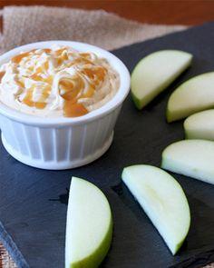 Caramel cheesecake dip & apple slices