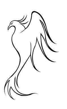 how to draw a phoenix step by step | Go Back > Gallery For > Easy Phoenix Drawing
