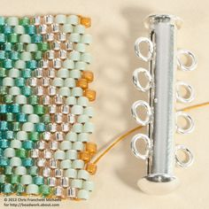 How to attach a sliding clasp to a Peyote bracelet