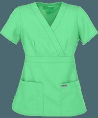Methodist Hospital CNA -Grey's Anatomy Scrubs Junior Fit Mock Wrap Tops Hunter Green