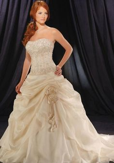 A-Line/Princess Sweetheart Cathedral Bridal Gowns! This dress is to die for..