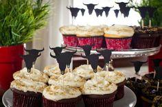 Cowboy cupcakes.