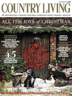 Country Living magazine December 2014 cover #luxury #inspiration #magazine