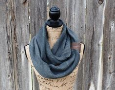This adorable navy scarf will not only keep you warm, but also fashionable!