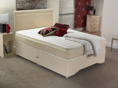 Sprung mattresses are made using conventional methods to ensure comfort and stability when you're catching your forty winks.
