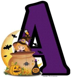 Halloween Letters, Halloween Iii, Halloween Scrapbook, Halloween Ideas, Chip Bags, Alphabet Letters, Letters And Numbers, Crafts For Kids, Monogram