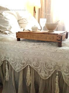 lace coverlet with tassels
