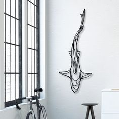 Unique wall art piece by Antoine Tes-Ted for Hu2 Design. Handcrafted in France from sustainable materials, this design is part of an ocean-inspired wall sign collection.