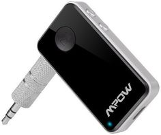 Mpow Streambot Mini Bluetooth 4.0 Receiver A2DP Wireless Adapter for Home Audio Music Streaming Sound System /Bluetooth Car Kits with 3.5 mm Stereo Output for iPhone 6 6plus 5S 4S Galaxy S6 S5 and iOS android Smartphones