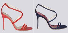 """Queen Letizia of Spain arrives at Soto Cano Air Base on May 25, 2015 in Comayagua, Honduras.  From the Carolina Herrera Spring Summer 2015 footwear collection style number """"13"""" (shown in coral on the Carolina Herrera website)."""