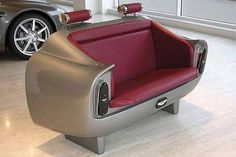 Have another strange sofa design! Aston Martin DB6 Sofa The Aston Martin DB6 sofa was produced between 1965 and 1970. #Design http://www.toxel.com/inspiration/2008/12/03/creative-and-unusual-sofa-designs/
