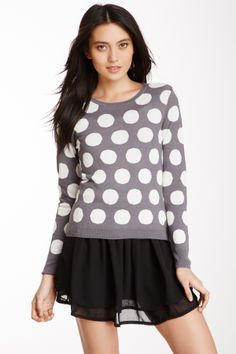 Polka Dot Printed Sweater