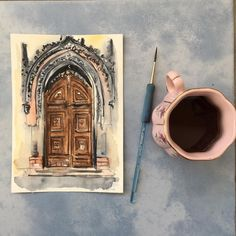 """Екатерина Ватиска, гид в Праге on Instagram: """"#Olddoors are my favorite subject for drawing. Do you know, where this one can be found? . #Старыедвери — мой любимый предмет для…"""" My Drawings, Coffee Maker, Kitchen Appliances, Coffee Maker Machine, Diy Kitchen Appliances, Coffee Percolator, Home Appliances, Coffee Making Machine, Coffeemaker"""