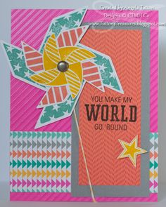 card by Angela Tutton using CTMH Dream Pop paper