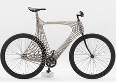 "A bike that was created to ""demonstrate the technology that MX3D plans to construct its 3D-printed canal bridge with."" Interesting! >>   Arc 3D printed steel bicycle by TU Delft students"