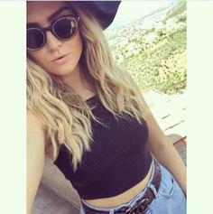 perrieeele: Top,Hat,Shorts: Topshop Glasses: Carerra Belt: Chanel