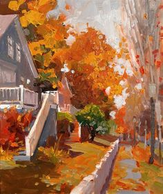 Daily Paintworks Original Fine Art Robin Weiss Daily Paintworks Original Fine Art Robin Weiss Graf Fencheltee graffencheltee Fencheltee s Bilderwelt Daily Paintworks Port Gamble Fall nbsp hellip Painting house Autumn Painting, Autumn Art, Landscape Art, Landscape Paintings, Building Painting, Nature Artists, Paul Klee, Painting Still Life, Fine Art Gallery