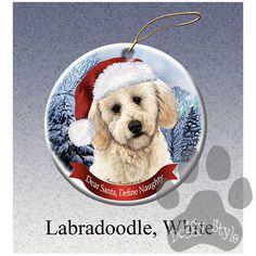 Labradoodle Howliday Dog Christmas Ornament