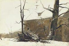 BRUSH PILE - ByAndrew Wyeth