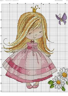 Buy 1 GET 1 FREE Cross stitch pattern PDF - Princess with a dog baby girl baby boy baby shower gift embroidery pattern baby announcement Wedding Cross Stitch Patterns, Counted Cross Stitch Patterns, Cross Stitch Designs, Cross Stitch Embroidery, Cross Stitch Fairy, Cross Stitch For Kids, Christmas Embroidery Patterns, Cross Stitch Boards, Cross Stitch Pictures