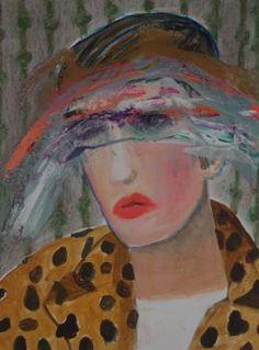 """Saatchi Art Artist Jacqueline van der Plaat; Painting, """"Caroline"""" #art"""