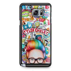 Tyler Oakley Col Art TATUM-11511 Samsung Phonecase Cover Samsung Galaxy Note 2 Note 3 Note 4 Note 5 Note Edge