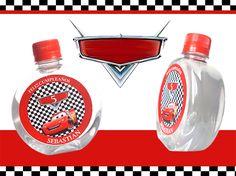 Agua Personalizada - Etiqueta Cars - Ref. P15