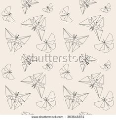 Thin Line Butterfly Paper Origami Style Stock Vector (Royalty Free) 363646874 Japanese Origami, Thin Line, Stencil Patterns, Free Vector Art, Geometric Art, Pattern Paper, Techno, Stencils, Butterfly