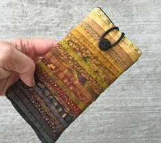 "Quilted eyeglass case. Soft glass case. Quilted sunglass holder. Reading glass case. 3 x 6 "" Gift for quilter. Mini cell phone case."