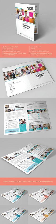 Clean Modern Bifold Brochure I - #Corporate #Brochures Download here: https://graphicriver.net/item/clean-modern-bifold-brochure-i/20011863?ref=alena994