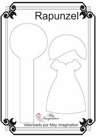 Rapunzel Princesas com 20 cm Vetorizadas por May Imagination Felt Doll Patterns, Quiet Book Patterns, Stuffed Toys Patterns, Silhouette Cameo, Felt Templates, Felt Quiet Books, Disney Crafts, Felt Diy, Doll Crafts