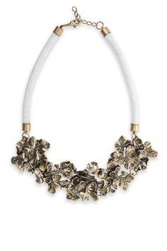 Leaf-Motif BCBG necklace