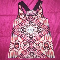Tribal print blouse Multi color tribal print blouse brand new never wore. Tops Blouses