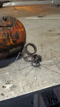 Lil spidy made of nuts and my drops of welding rod..