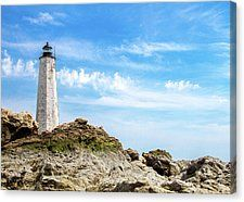 New Haven lighthouse in Connecticut on a bright summer day. Fine art photography by 3QuartersImages